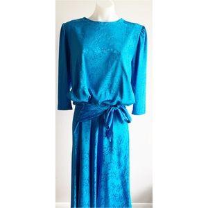 Blue Vintage Dress Size Large